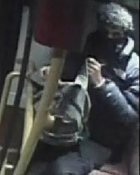 A CCTV image of a man police wish to identify and speak with in connection with the offence.