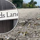 Upherds Lane, in Ely, has extensive and deep potholes which are located across the road
