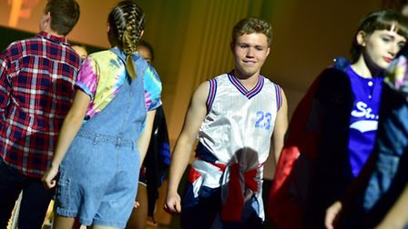 Norwich School fashion show at OPEN, Norwich. Clothes from Taxi Vintage, Norwich Market. Picture: AN