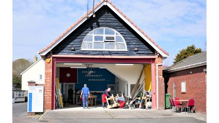 Budleigh's community workshop, at the former fire station
