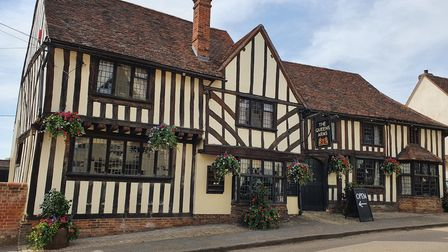 The Bell Inn in Kersey has been renamed the Queens Arms for the television series