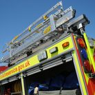 Fire crews attended after a light aircraft crashed