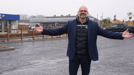 Just waiting for visitors as Richardsons chief executive, Greg Munford, stands in the new car park n