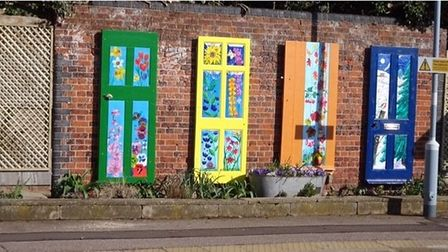 Dullingham's quiet rail stationhas been given a colourful makeover by community volunteers.