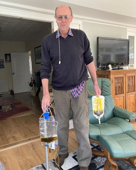 Paul Tooth, 64, has to recycle bile through tubes after his botched surgery at the NNUH