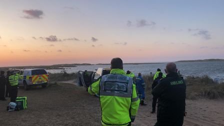 The coastguard was on the beach as Wells RNLI were tasked to check on the woman.