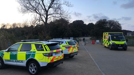 Emergency services were called to Holkham beach after reports of a woman cut off by the tide.