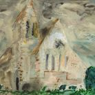 Newbold Pacey, by John Piper, part of the Modern British Painters exhibition at the Thompson's Gallery in Aldeburgh