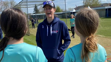 Ex-England cricketer Lydia Greenway in Ely