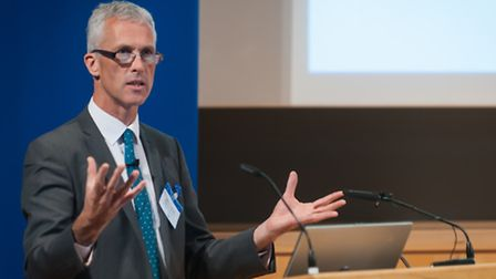 Gordon Boyd, assistant director of education, speaking at the Norfolk headteacher conference in 2014