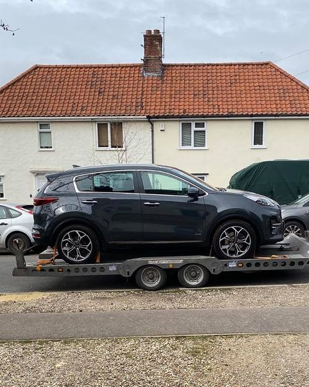 The £18,250 Kia Sportage delivered to the Bansted's family home