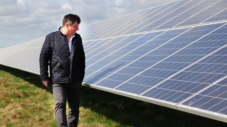 David Fyffe of Scottow Solar Ltd at the Scottow Moor Solar Park on the Norfolk County Council-owned