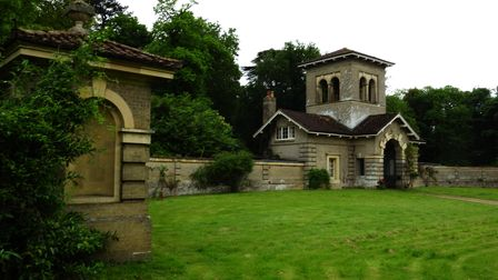 One of the Gatehouses at Shrubland Hall Barham. Picture: Barry Pullen