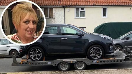 Marilyn Bensted had her new Kia Sportage stolen from outside her front drive in Norwich
