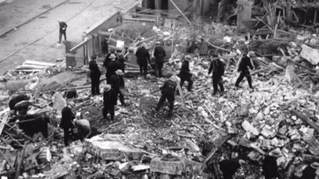 Devastation at Old Palace Schoolused as wartime fire station where 34 peoplewere killed