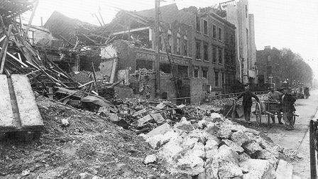 Poplar in Blitz... Woodstock Terrace off East India Dock Road after an air raid, a mile or so from Old Palace School