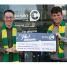 Chris, left, and Jack Reeve raised more than £23,000 for the Big C with their 24-hour live stream.