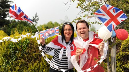 The residents of James Boden Close in Felixstowe celebrated the royal wedding with a street party