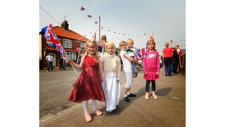Residents of Princes Street Felixstowe came out to celebrate the royal wedding with a street party.
