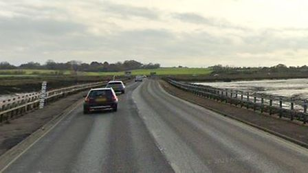 Two people had to be rescued after flooding in The Stroud, West Mersea.