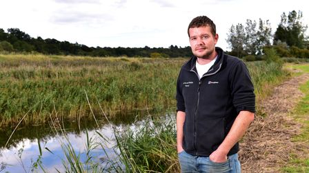 Dan Goldsmith is concerned about the water pollution on Haddiscoe marshes. Picture: Nick Butcher