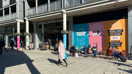 Footfall has increased hugely in Bury St Edmunds, nearing 2019 levels