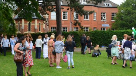 Open day entertainment at Notre Dame High School, Norwich where staff and pupils, past and present c