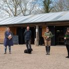 The team outside their new farm store at Maple Farm in Kelsale