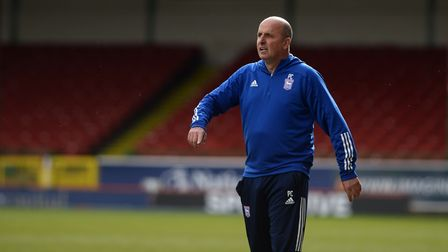 Ipswich Town Manager Paul Cook at Swindon Town