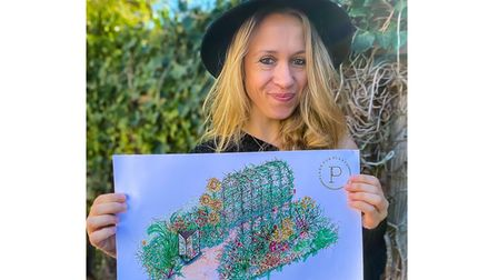 Instagram star Lucy Hutchings is set to showcase her garden at the RHS festival in July