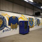 General view of the concourse during the Sky Bet League One match at the Montgomery Waters Meadow, S