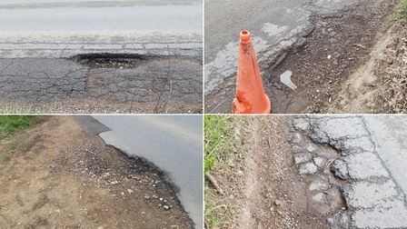 Residents are calling for urgent action to repair the potholes around Fishwick Corner in Thurston