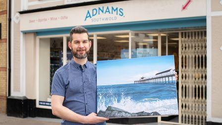 Tom Crittenden, who manages the Adnams shop in Bury St Edmunds, has taken up painting during the pan