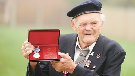 Richard Gould with his Arctic Convoy Medal from the Russians. Picture: Ian Burt