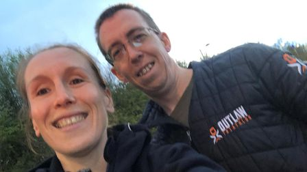 Barking Road Runners Cristina and Trevor Cooper at the Gravesend 10k