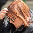 Kim Holman, 61, outside Chelmsford Magistrates Court after being sentenced to a £160 fine after she