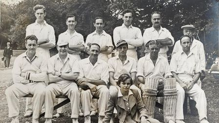 Dunmow CricketClub in the early 1950s.