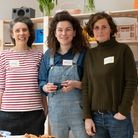 Organisers of The Container Project, May Cornet, Alice Andrea Ewing, Emily Richardson. Picture: Sar