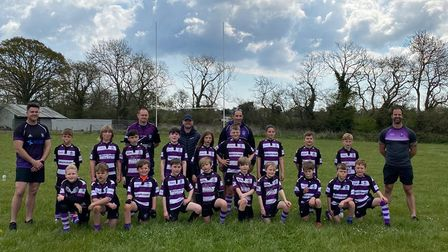 Team photo for Exmouth Rugby Under-10s