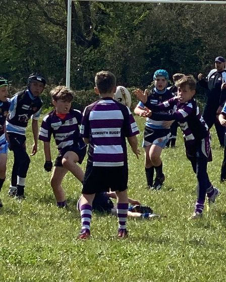 Exmouth Under-10s in action