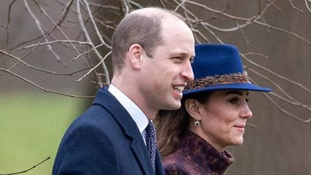 The Duke and Duchess of Cambridge at Sandringham, with the duchess wearing a Suffolk fedora
