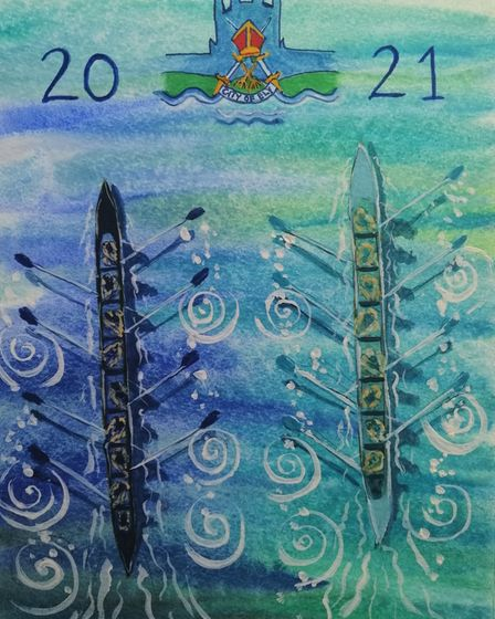 One of the entries in Ely-Hereward Rotary Club's community art project.