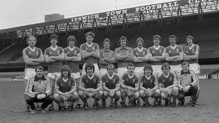 IPSWICH TOWN ITFC TEAM PIC 1981 MARCHPIC OWEN HINES UEFA