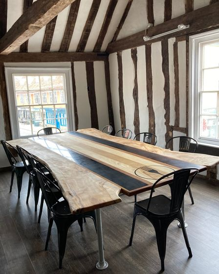 The private dining table at Fork in Hadleigh