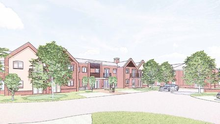 Artist's impression of McCarthy Stone's proposals for Water Street, Lavenham