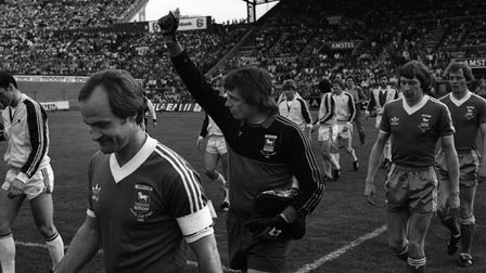 Paul Cooper pictured before the second leg of the 1981 UEFA Cup final in Amsterdam