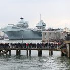 The Royal Navy aircraft carrier HMS Queen Elizabeth, where the USMC and Dambusters will serve
