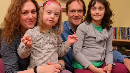 Tanya Antill and Andrew Wenley and their daughters Melissa and Rebecca, who have been helped by NANS
