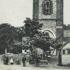 An old postcard depicting Dagenham's St Peter and Paul Church, before 1921 with its spire. Picture: