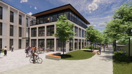 Artist impression of the new Enterprise Centre being built at Great Notley